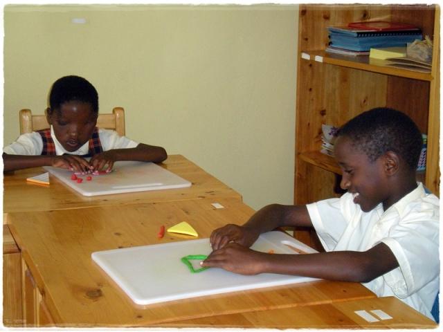 niewidome dzieci w Rwandzie