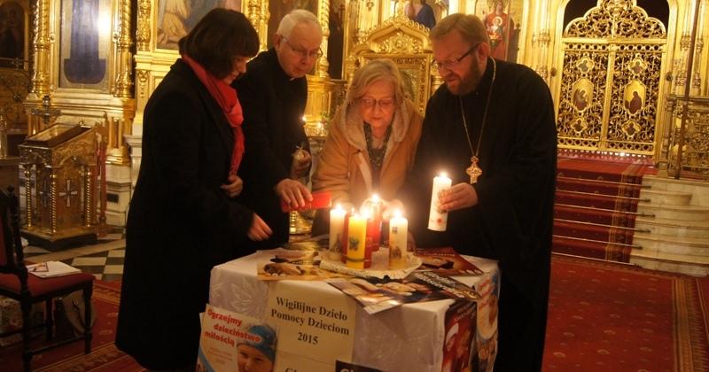 Wigilijne Dzielo Pomocy Dzieciom 2015 - inauguracja w katedrze prawoslawnej w Warszawie