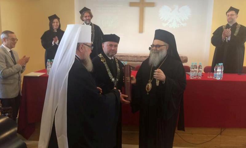 Doktorat honoris causa Chrzescijanskiej Akademii Teologicznej w Warszawie dla patriarchy Antiochii Jana X