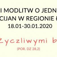 Tydzień Modlitw o Jedność Chrześcijan 2020 w regionie łódzkim